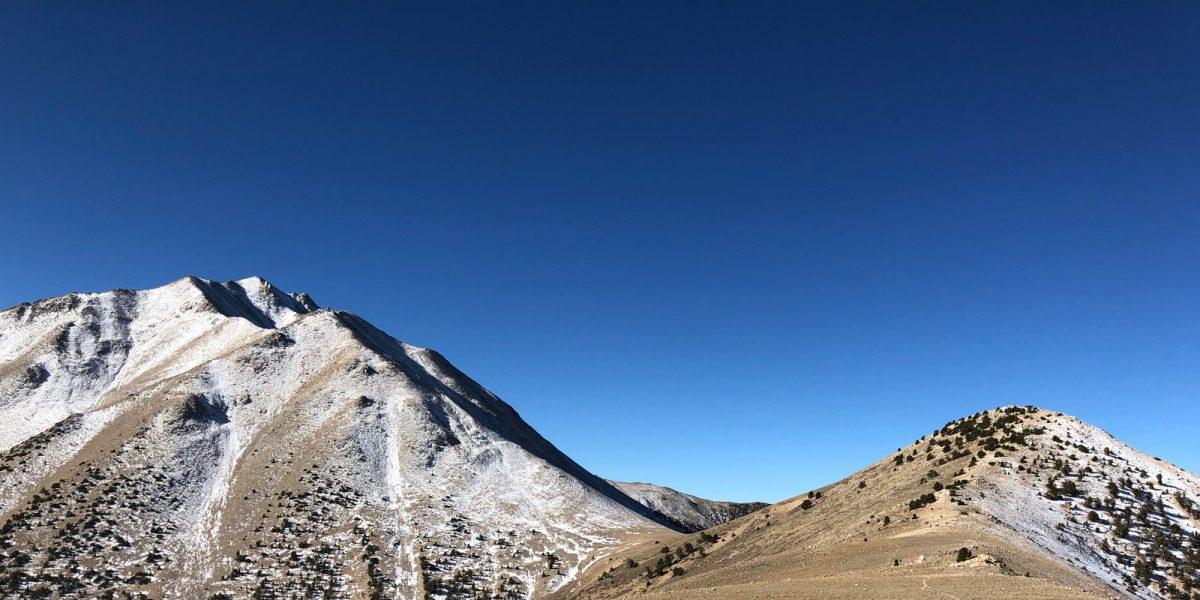 Photo of Trail Canyon Peak and Boundary Peak by Rex KE6MT